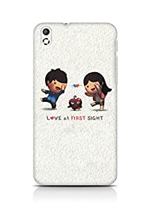 Amez designer printed 3d premium high quality back case cover for HTC Desire 816 (Love At First Sight)