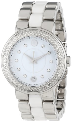 Movado Women's 0606625 Cerena Stainless Steel Diamond Set Watch