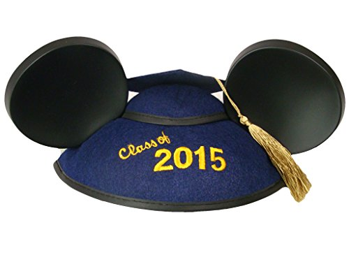 Disney World Parks Class of 2015 Mickey Graduation Grad Ears w/Tassel
