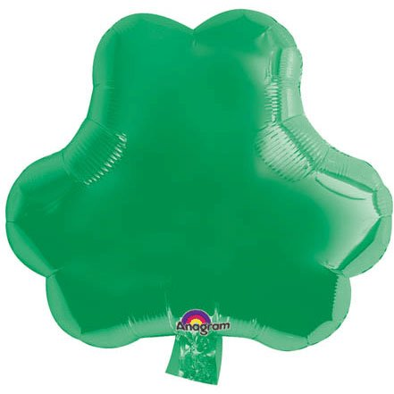Party Destination - Green Shamrock Foil Balloon