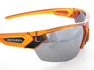 Buy Miami Hurricanes UM Orange Transparent Sunglasses S12OR by Sports Accessory Store