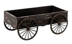 Deco 79 Wood Decor Cart, 18 by 7-Inch by UMA Enterprises, Inc.