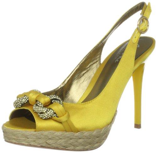 Bourne Women's Verity Yellow Slingback Espradilles L09036 6 UK