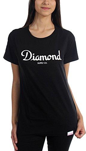 Diamond Supply Co. - Womens Champagne Script T-Shirt, Size: Medium, Color: Black (Diamond Supply Co T Shirt Womens compare prices)