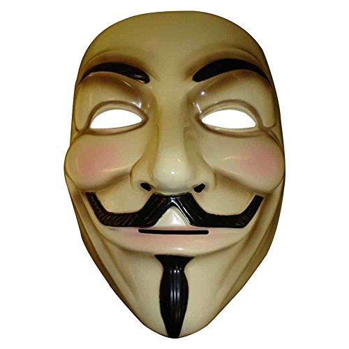 V for Vendetta Mask Guy Fawkes Anonymous-Maschere Halloween fancy dress costume