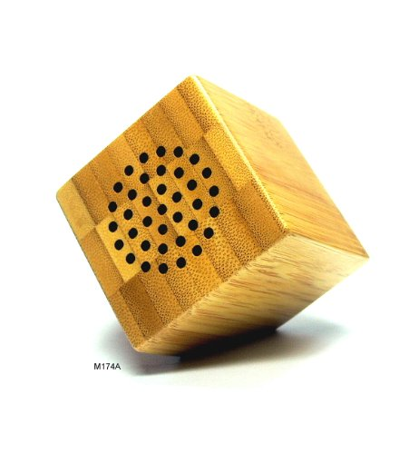 Basicase ™ Handmade Natural Bamboo Wood Portable Mini Speaker M174A Mobile Phone Apps Special Edition