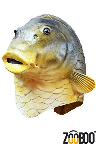 Zooboo creepy fish full head mask halloween costume for Fish head costume