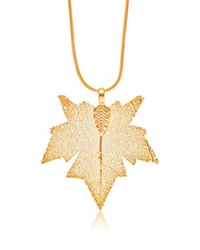 Ana Natural Leaves Ciondolo Oro