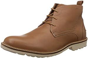Hush Puppies Men's Debonair Chukka Tan Light Brown Leather Boots - 9 UK/India (43 EU)(8043912)