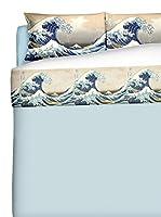 Tele d'autore by MANIFATTURE COTONIERE Juego De Sábanas (Azul / Multicolor)