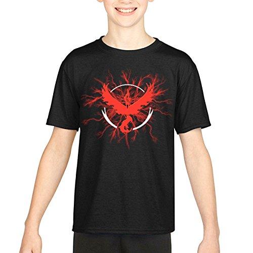 Pokemon-Go-Team-Red-Valor-Thunder-Camiseta-Kids