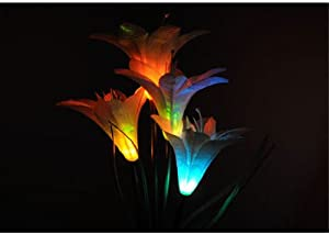 FlashingBoards LED Solar Lily Flower Garden/Yard Lamp Decor Stake Multi-Color Changing LED Light at Sears.com