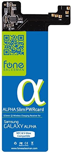 Fonesalesman Alpha SlimPWRcard 0.5mm Qi Receiver for Samsung Galaxy Alpha with integrated NFC coil