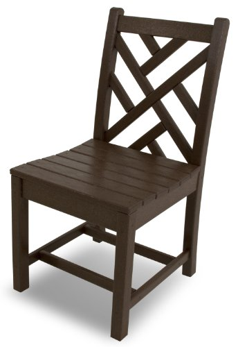 POLYWOOD CDD100MA Chippendale Dining Side Chair, Mahogany