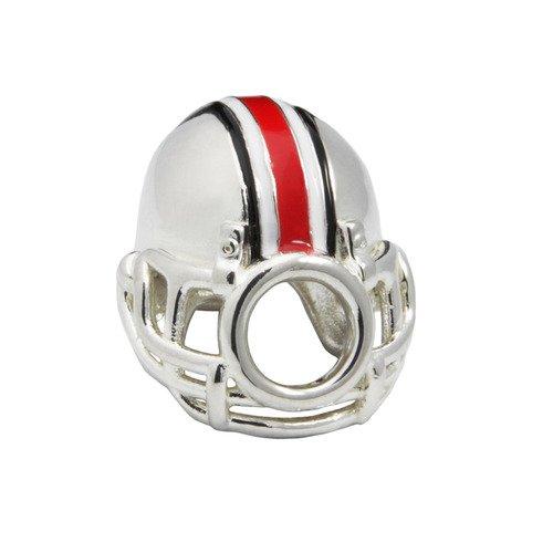 Ohio State Buckeye Bead Helmet Bead