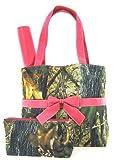 Camo Camouflage Tote Purse Diaper Bag You Choose Color! Pink Orange Brown or Black