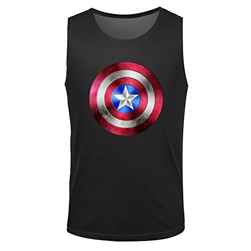 Captain america symbol shield men's vest tank top M