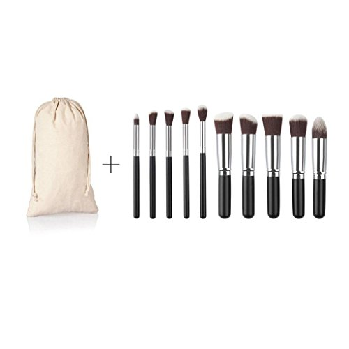 rosennie-10pcs-cosmetic-makeup-brush-brushes-set-foundation-powder-eyeshadow-black