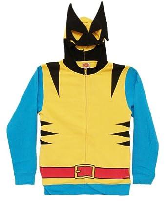 Mens Marvel Wolverine Comic Costume Hoodie Yellow Yellow XL