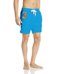 Superdry Men's Synthetic Shorts (5054265324284_M30MP003_XX-Large_Hawaii Blue)