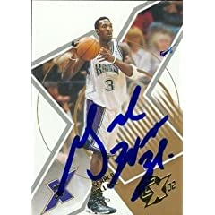 Gerald Wallace Autographed Hand Signed Basketball card (Sacramento Kings) 2002 Topps... by Hall of Fame Memorabilia
