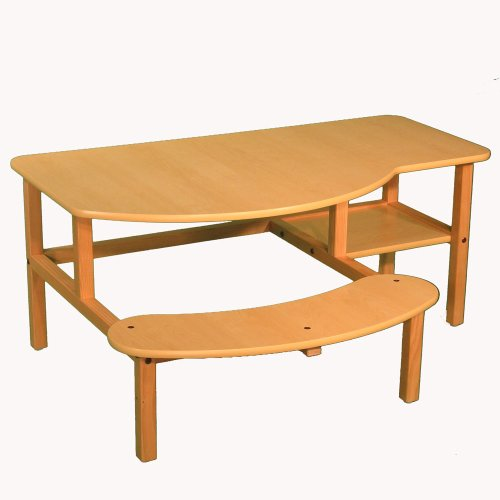 Buy Low Price Comfortable Child's wooden computer desk for 1 or 2 kids ages 2 – 5 – maple (B0018AIKX0)