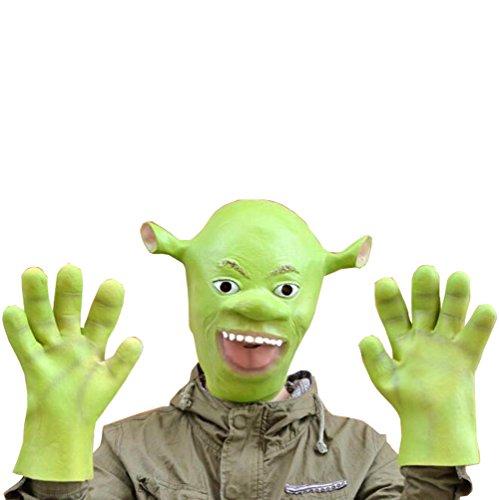 Juway Shrek Latex Masquerade Mask For Halloween(SLK,Onesize) (Shrek Costume Ideas)