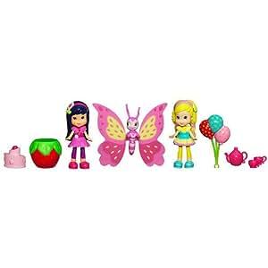 Hasbro, Strawberry Shortcake, Celebration Playpack, Sun-Lovin' Garden (Cherry Jam, Lemon Meringue, and DVD), 3 Inches
