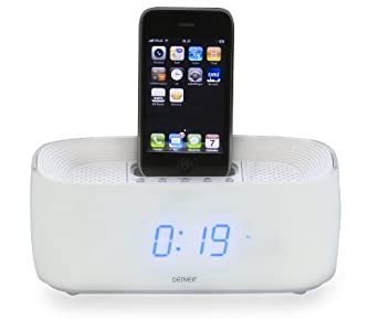 Review and Buying Guide of The Best Denver IFM-15 iPhone iPod Speaker Dock Clock Radio AUX White