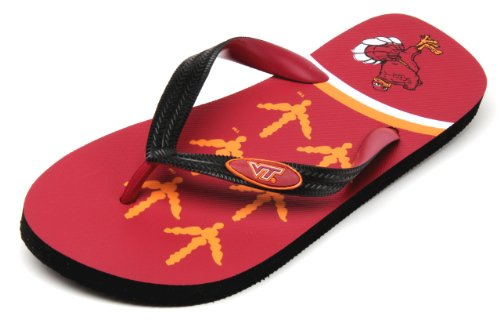 NCAA Virginia Tech Hokies Spirit Flip Flops (Maroon, XX-Large)