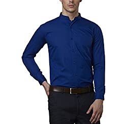 Lisova Men's Formal Shirt (LI/SHRT/080_Blue_XX-Large)