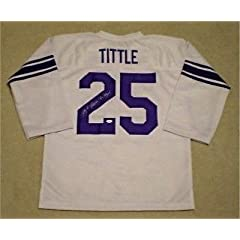 Signed Y.A. Tittle Jersey - Ya #25 White Throwback - JSA Certified - Autographed...