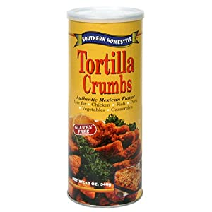 Southern Homestyle Tortilla Crumbs, 12-Ounce Canisters (Pack of 6)