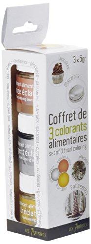 les-artistes-paris-a-0384-lote-de-3-colorantes-alimentarios-color-plateado-dorado-y-bronce
