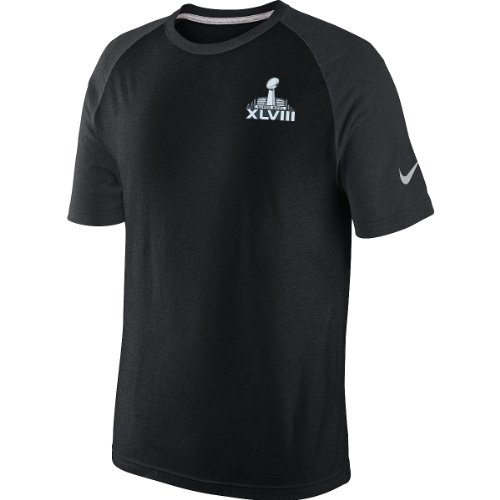 90569506 Nike Super Bowl XLVIII Raglan T-Shirt - Black