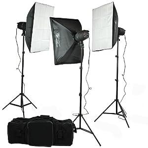 ePhoto 900 Watt Photography Studio Monolight Flash Lighting Kit P-300