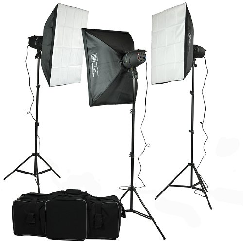 ePhoto P-300 900-Watt Photography Studio MonoLight Flash Lighting Kit (Black)