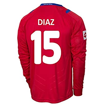 Buy Lotto DIAZ #15 Costa Rica Home Jersey World Cup 2014 (Long Sleeve) by Lotto
