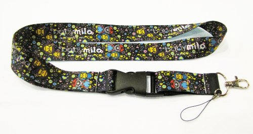 Baby Milo Lanyard Key Chain Holder (Black)