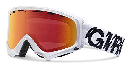 Giro 2013/14 Station Winter Snow Goggles (White Static - Amber Scarlet)