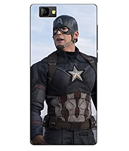 Case Cover Captain America Printed Multicolor Soft Back Cover For LYF WIND 7