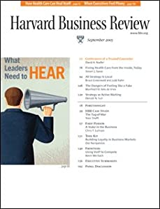 Harvard Business Review, September 2005 Periodical