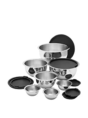 Stainless Steel Mixing Bowl Set 14 Piece