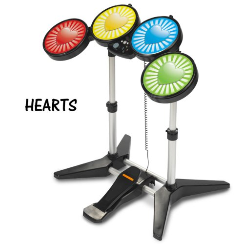 Rock Band Drum Skins, Fits Xbox 360 / PS3 / PS2 / WII Rockband Drums - Hearts