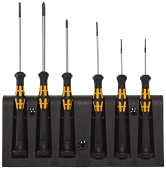 Wera 1578 A/6 Electronics Screwdriver Set and Rack, 6-Piece Set