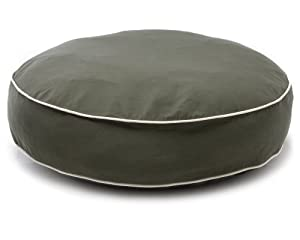 Dog Gone Smart Bed Canvas Round Bed with Ecru Piping, Olive,  Medium,  24""