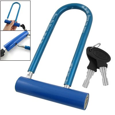 Como Bike Bicycle Blue Plastic Coated U Shape Lock Keys