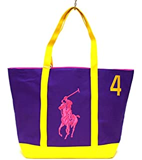 RALPH LAUREN THE BIG PONY COLLECTION PINK \\u0026amp; BLUE #2 BEACH / TOTE