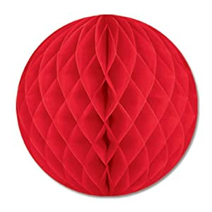 Pkgd Tissue Ball (red) Party Accessory  (1 count) (1/Pkg)