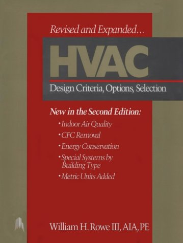 Hvac: Design Criteria, Options, Selection